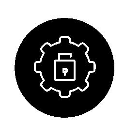 ロックの設定インタ フェース円形シンボル無料アイコン