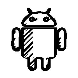 Android のスケッチのロゴの無料アイコン