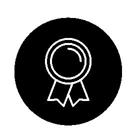 サークル無料アイコンで報酬シンボル