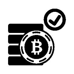 Bitcoin は、シンボル無料アイコンを受け入れる