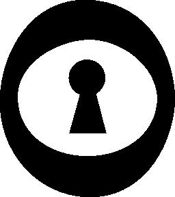 楕円形の無料アイコンの鍵穴