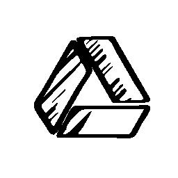 Google ドライブのスケッチのロゴの無料アイコン