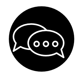 サークル無料アイコンで会話泡
