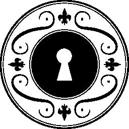 円形の無料アイコンの女性の装飾品で鍵穴