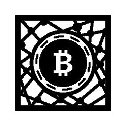 Bitcoin デジタル ネットワーク シンボル無料アイコン