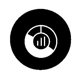 円グラフの円の無料アイコン