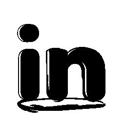 Linkedin のスケッチのロゴの無料アイコン