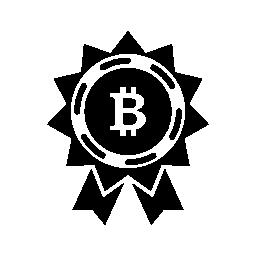 Bitcoin 報酬ラベル無料アイコン