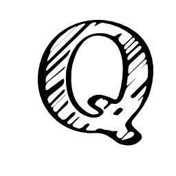 Quora スケッチ文字ロゴ無料アイコン