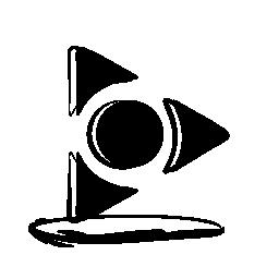 AOL メール スケッチのロゴの無料アイコン