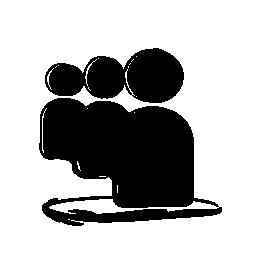 Myspace のスケッチのロゴの無料アイコン
