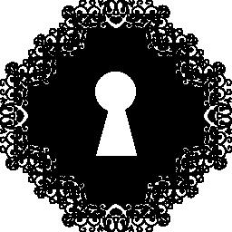 菱形形状の無料アイコンの鍵穴