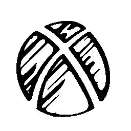 Xbox のスケッチのロゴの無料アイコン