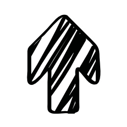 上向きの矢印は無料アイコンをスケッチします。