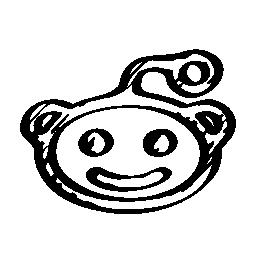 Reddit のロゴのスケッチの無料アイコン