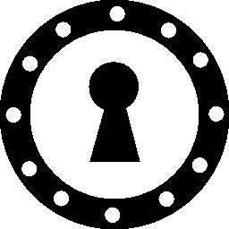 すべてその延長無料アイコンに小さい円が円の大筋の鍵穴