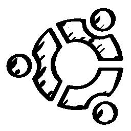 Ubuntu のスケッチのロゴの無料アイコン