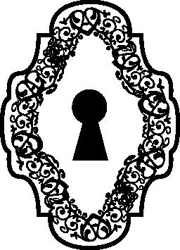 鍵穴に飾られた垂直対称図形無料アイコン