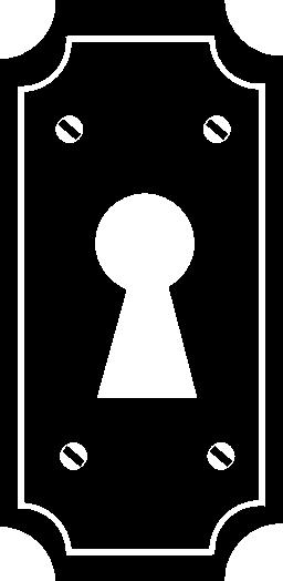 典型的な簡単なドアの無料アイコンの鍵穴