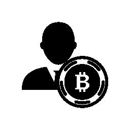 Bitcoin ユーザー シンボル無料アイコン