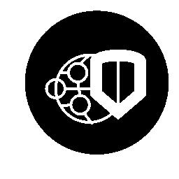 世界のセキュリティ円形シンボル無料アイコン