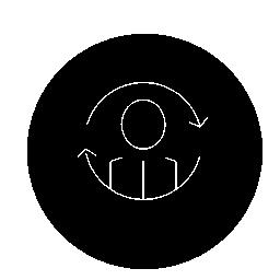 人または個人的な同期円形シンボル無料アイコン