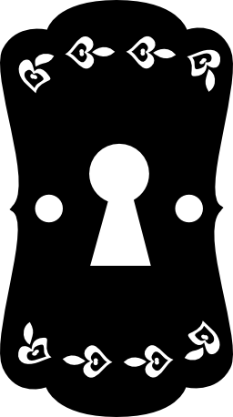 女の子の部屋のドアの無料アイコンの小さな心の鍵穴