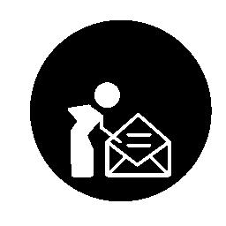 個人用メール円形シンボル無料アイコン