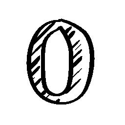 オペラ スケッチのロゴの輪郭の無料アイコン