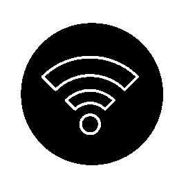 サークル無料アイコンで Wifi アウトライン記号