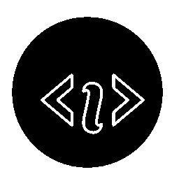 サークル無料アイコンでコード情報シンボル