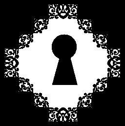 正方形の中のキーホール形状無料アイコン