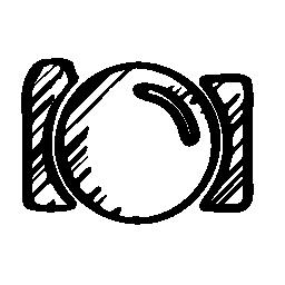 写真カメラ スケッチ無料アイコン