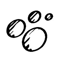 社会的な楕円をスケッチした輪郭グループ無料アイコン