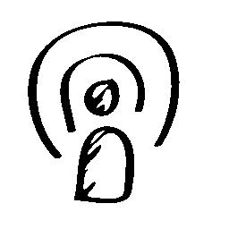 ポッド キャスト スケッチ シンボル無料アイコン