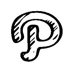 パス ネットワーク ロゴ スケッチ概要無料アイコン