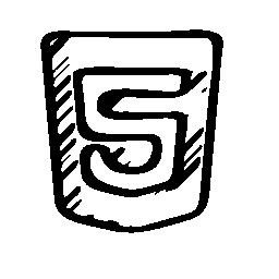 HTML 5 のスケッチのロゴ概要無料アイコン