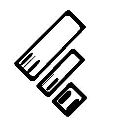 Feedly ロゴのスケッチの無料アイコン