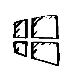 Windows 8 のスケッチのロゴの無料アイコン