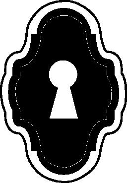 鍵穴を垂直丸みを帯びた古い図形無料のアイコンで