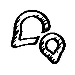 WeChat ロゴ スケッチ無料アイコン