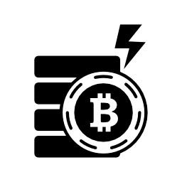 ボルト形状の無料アイコンと Bitcoin 電気シンボル