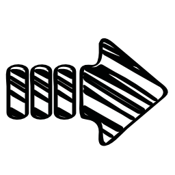 スケッチの右矢印無料アイコン