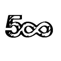 500 無料の無限記号のアイコンを社会的なロゴのスケッチ
