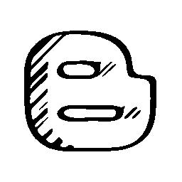 Blogspot スケッチ社会のロゴ文字アウトライン無料アイコン