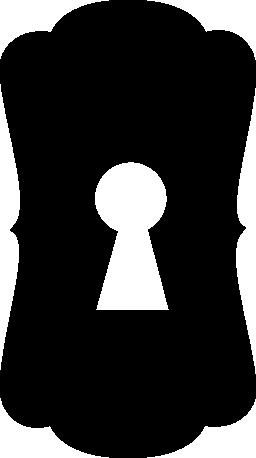 黒い図形の垂直方向の無料アイコンの鍵穴