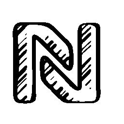 NFR スケッチ社会的シンボル無料アイコン
