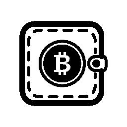 Bitcoin のポケットや財布の無料アイコン