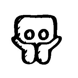 Slideshare スケッチのロゴの輪郭の無料アイコン