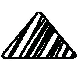 矢印の三角形の無料アイコンをスケッチ